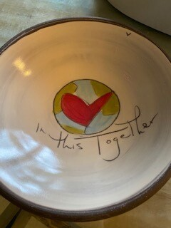 """In this together"" ceramic bowl  Sold OUT"