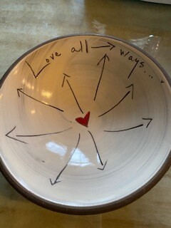 """Love all ways"" ceramic bowl SOLD OUT"