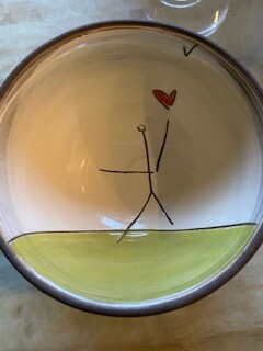 """Carry your heart"" small bowl"