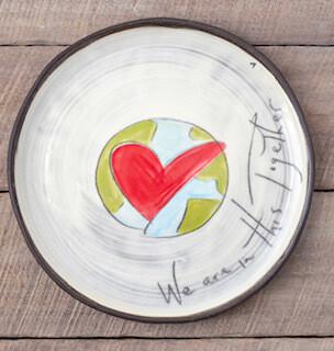 """""""We are in this together"""" dinner plate-SOLD OUT"""
