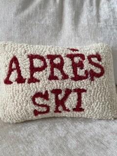 Après ski pillow