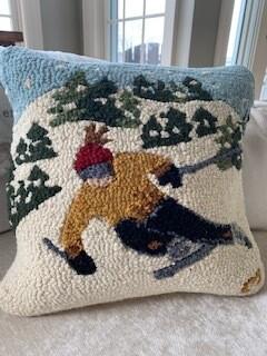 Ski racer pillow