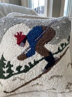 Downhill racer pillow