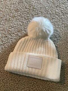 White Love Your Melon with white pom-sold out