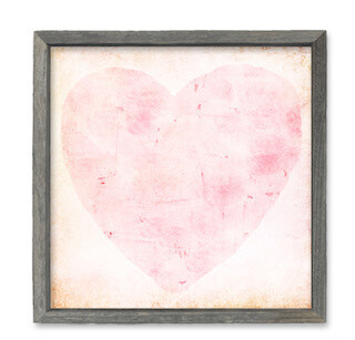 Tinkled pink heart