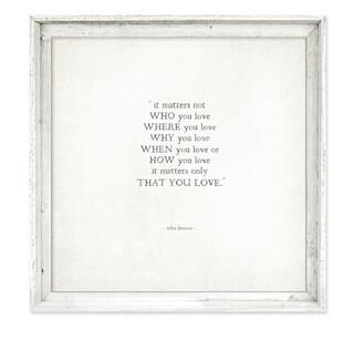 John Lennon love 8 x 8