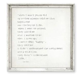 """When I was five years old..."" John Lennon"