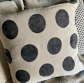 Black Dots pillow