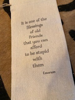Old friends wine bag