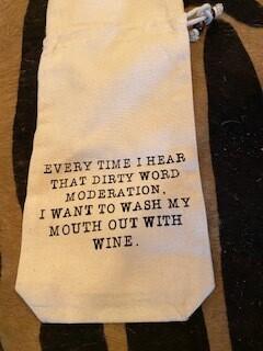 Moderation wine bag