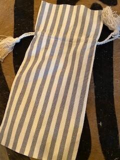 Striped wine bag
