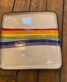 Rainbow square plate