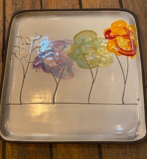 All seasons square plate.
