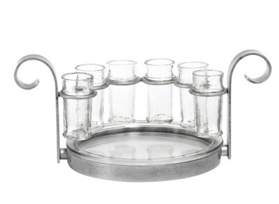 Tequila set~silver finish