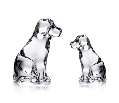 Simon Pearce dog and puppy (gift boxed)