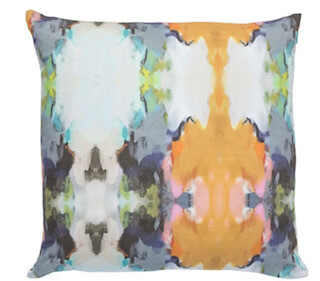 Under the sea navy linen square
