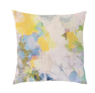 Butterfly Garden linen Cotton square pillow