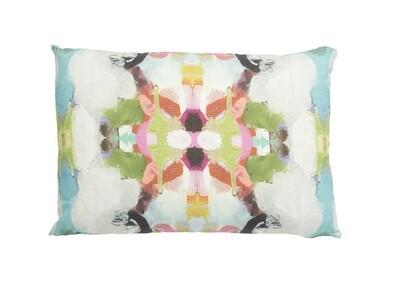 Gorgeous Garden red lumbar pillow