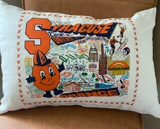 Syracuse University lumbar pillow