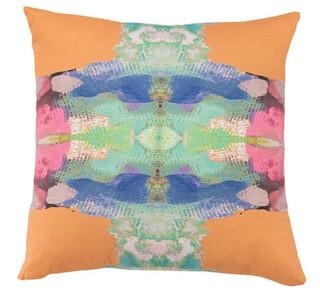 Outdoor orange square pillow