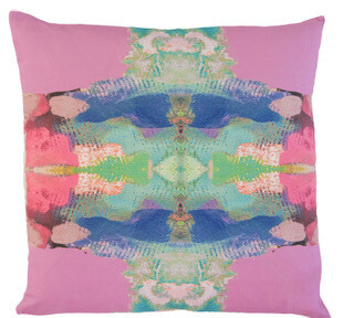 Outdoor square pink pillow