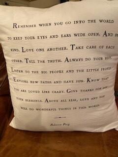 """Remember when..."" pillow"