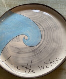 """Love the Water"" ceramic small plate"