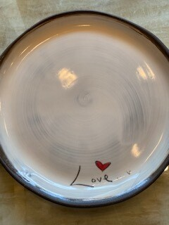 LOVE ceramic dinner plate