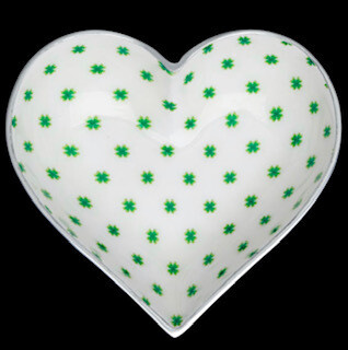 Irish heart bowl  with heart spoon