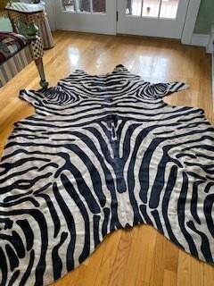 Brown zebra hide(4 x 6)