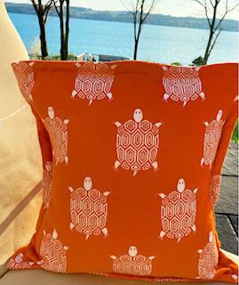 Orange Turtle pillow