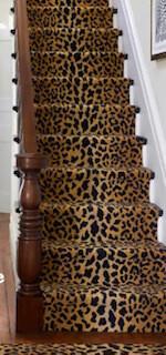 Leopard wool micro hooked runner 2.5' x 8'