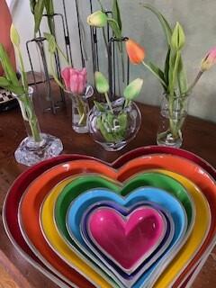 rainbow hearts (set of 7)