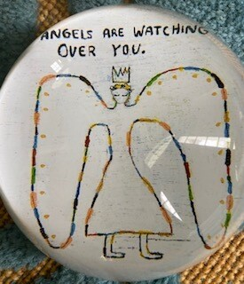 """""""Angels are watching over you"""" paperweight"""