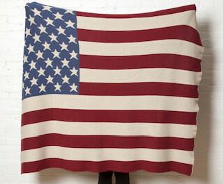 American Vintage flag throw