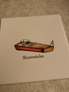 Skaneateles antique boat card