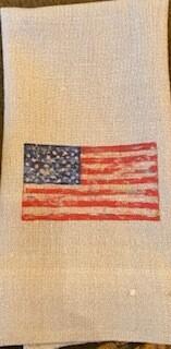 Flag guest towel