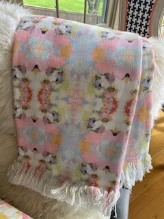 Pink Blossom throw blanket