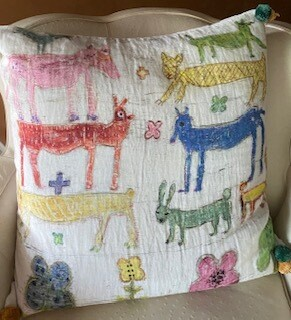 Farm animals pillow