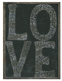 "LOVE print 25"" x 36"""