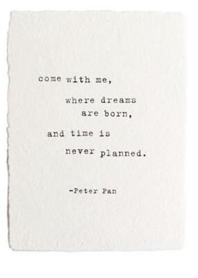 Peter Pan white paper print
