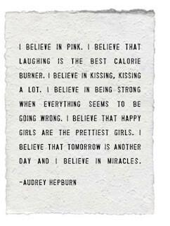 Audrey Hepburn white paper print