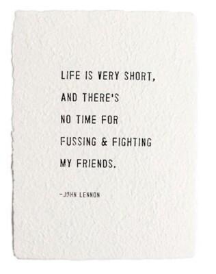 John Lennon White paper prints.