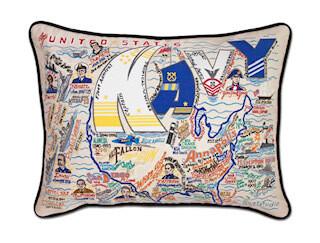 Navy Printed pillow