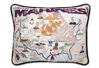 Marines printed pillow