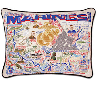 Marines Hand Embroidered pillow
