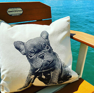 Frenchy pillow