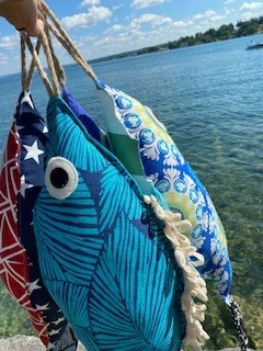 Blue Lagoon fish pillow-SOLD OUT