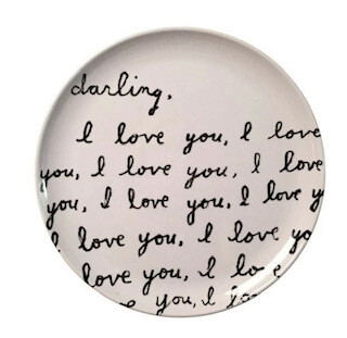 """Darling, I love you... melamine plate- set of 4"