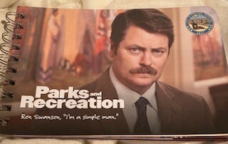 """""""Parks and rec"""" wisdom books"""